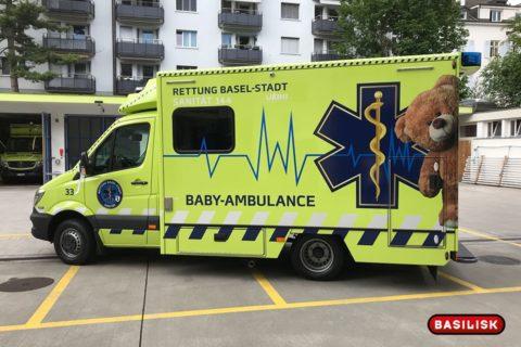 Baby-Ambulance in Basel als mobile Neugeborenen-Intensivstation