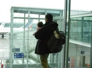 papa und baby-girl